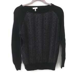 JOIE Malena B snake silk printed front sweater